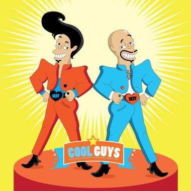 Illustration of Cool Guys