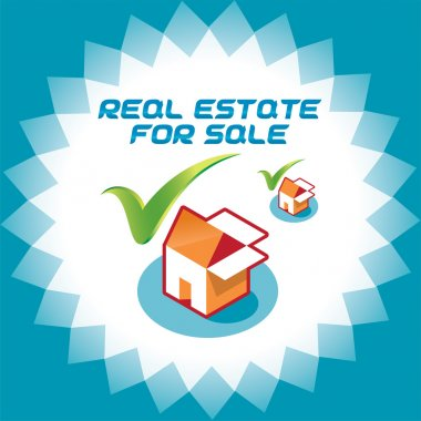 Real Estate Accept Icons, Logo Illustration With Box and House for Web and Print Design