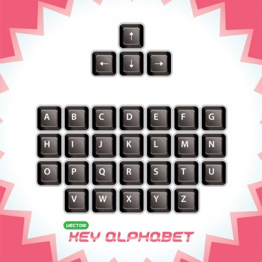 Vector Glossy, 3d Keyboard Keys, Button for Baby, Child, Children, Teenager, Adult, Family