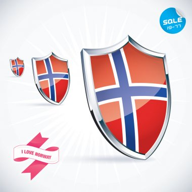 I Love Norway Flag Illustration, Sign, Symbol, Button, Badge, Icon, Logo for Family, Baby, Children, Teenager