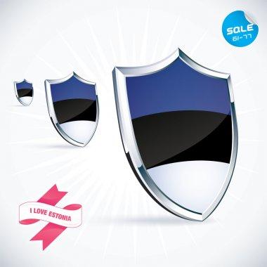I Love Estonia Flag Illustration, Sign, Symbol, Button, Badge, Icon, Logo for Family, Baby, Children, Teenager