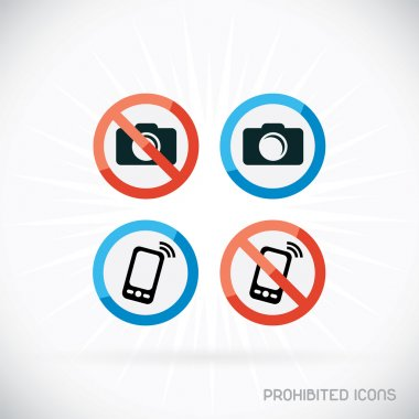 Prohibited Icons Illustration, Sign, Symbol, Button, Badge, Logo for Family, Baby, Children, Teenager