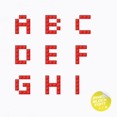 Unique Pixel Block Alphabet