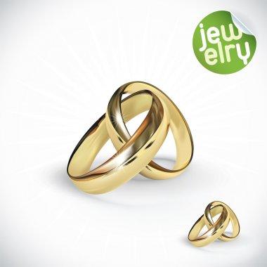 Vector Gold Ring Illustration