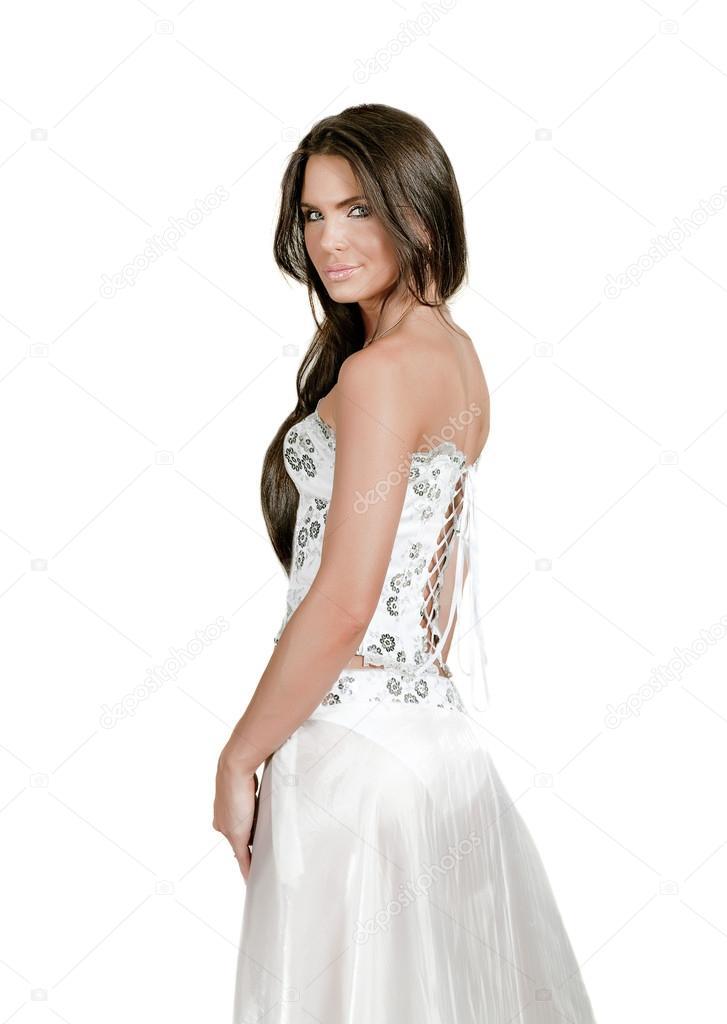 Vestido blanco en morenas