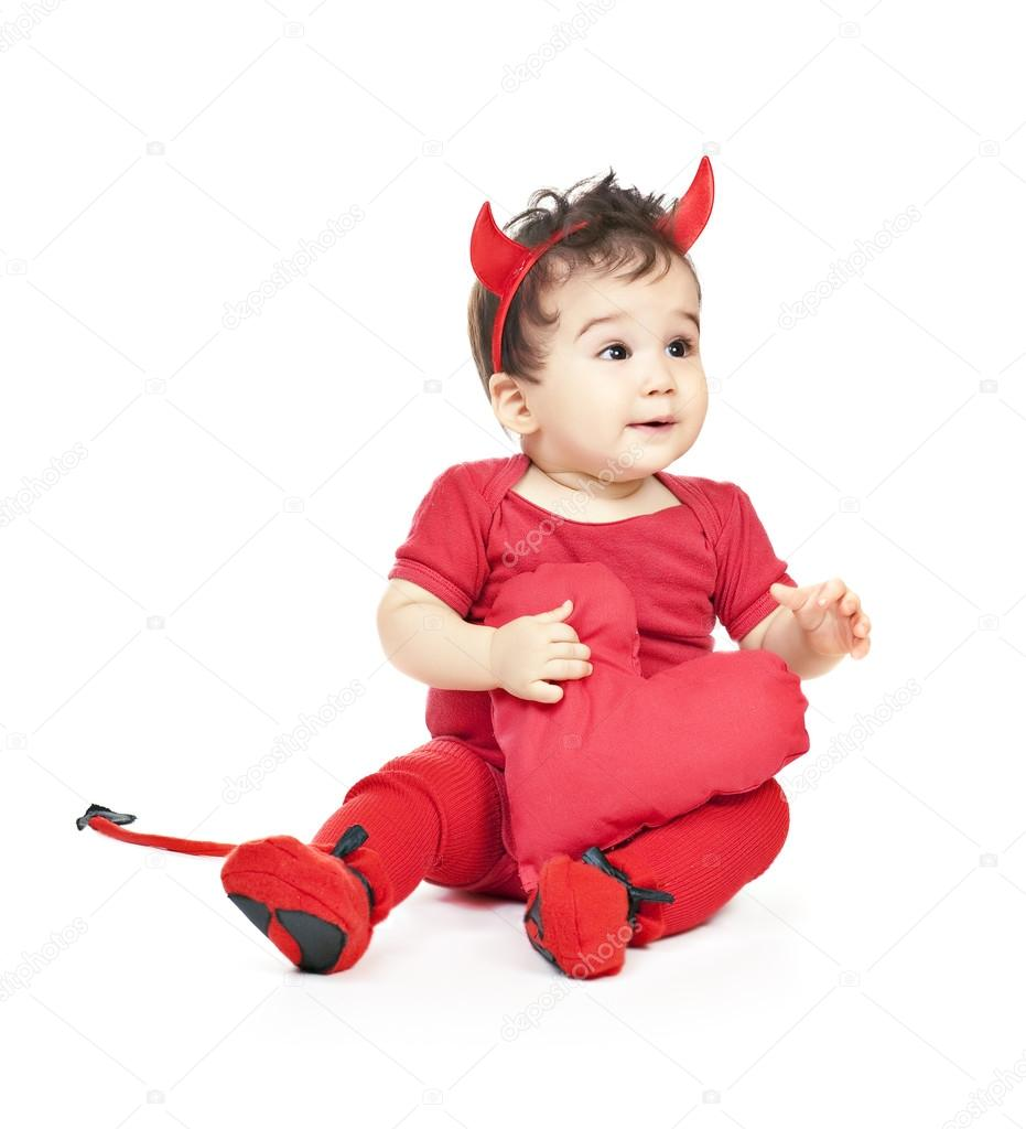 275f1739607a Asian baby boy in a red fancy dress — Stock Photo © postolit  12865428
