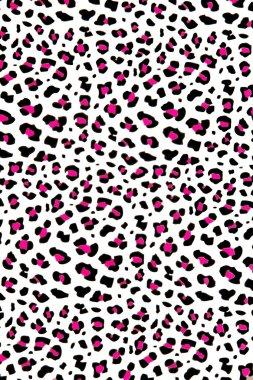Pink & grey leopard background