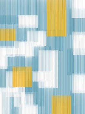Teal and Orange Abstract Art Design