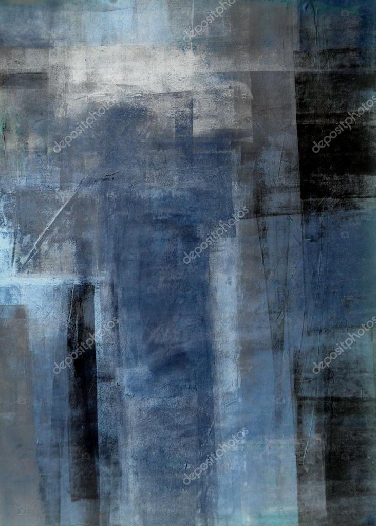 Blue and Grey Abstract Art Painting