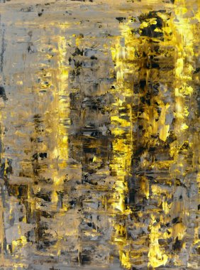 Yellow and Beige Abstract Art Painting