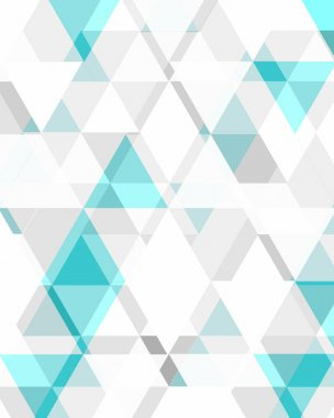 Grey and Turquoise Triangle Pattern