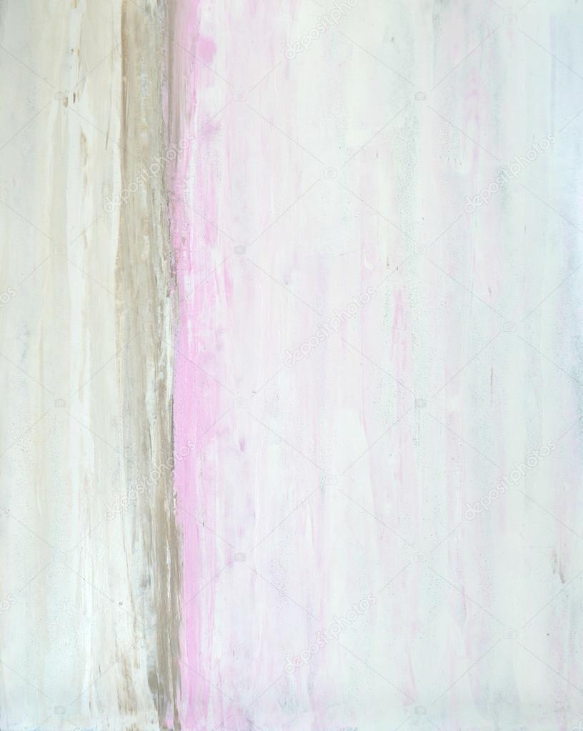 Pink and Beige Abstract Art Painting