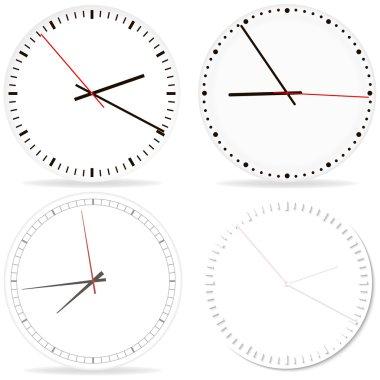 Chrome clock on white fon.