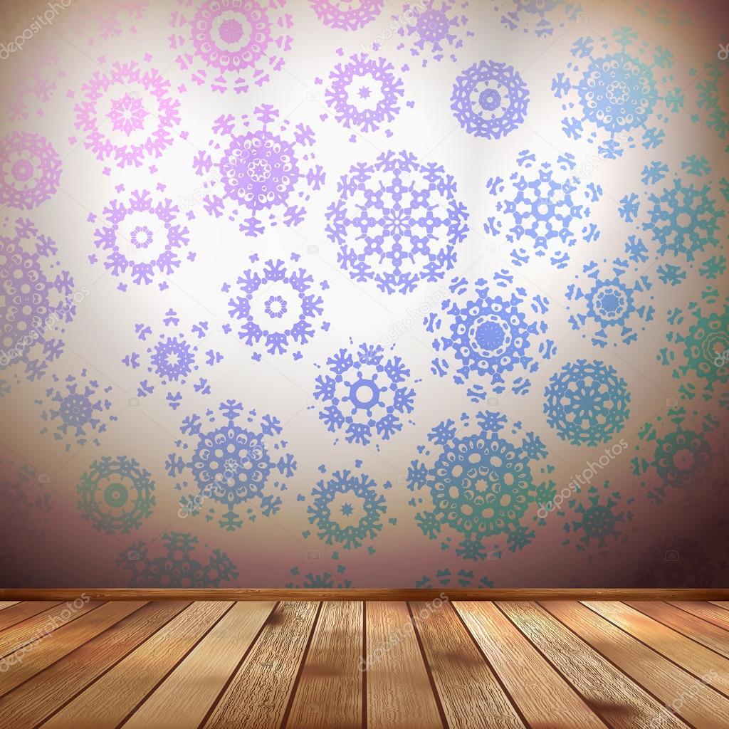 Las paredes interiores invierno decoraci n copos de nieve - Decoracion de paredes interiores ...