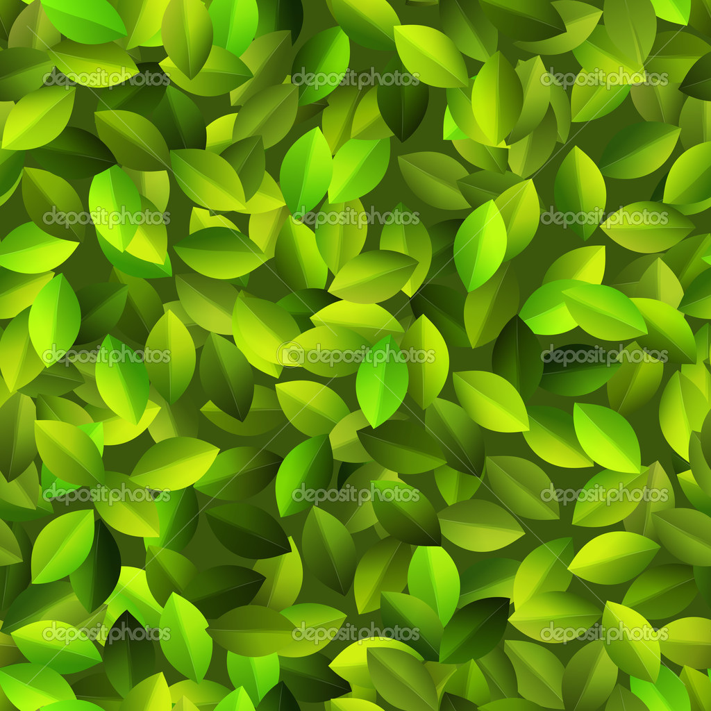 Green leaves Seamless pattern. + EPS10