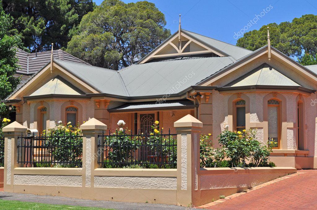Casa australiana estilo vintage fachada exterior fotografias de stock katerina au 30942329 - Casas estilo vintage ...