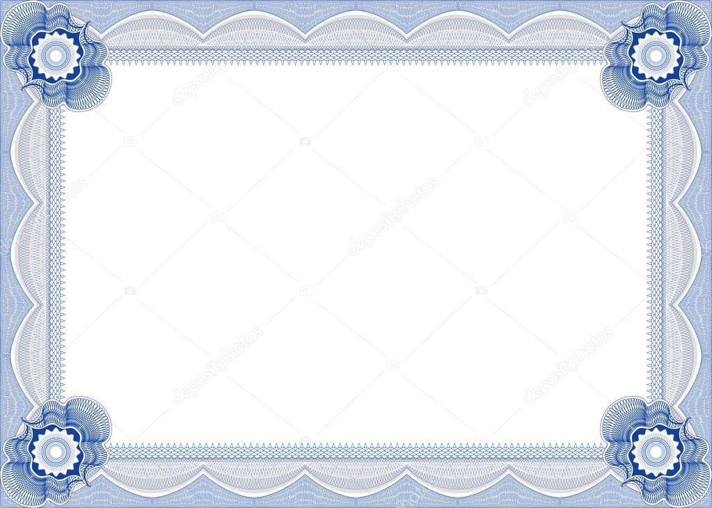 marco para diploma o certificado — Archivo Imágenes Vectoriales ...