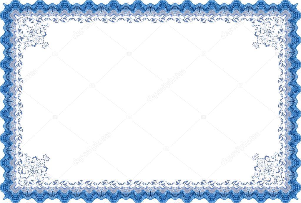 marco para diploma o certificado — Vector de stock © naddi #23141618