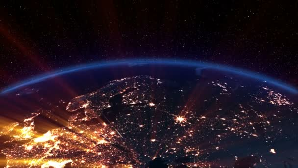 Earth night. Europe.