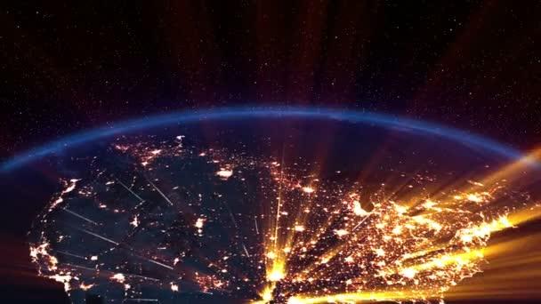 země v noci. Amerika