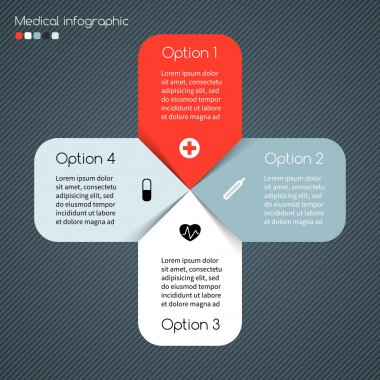 Modern vector template for your medical project