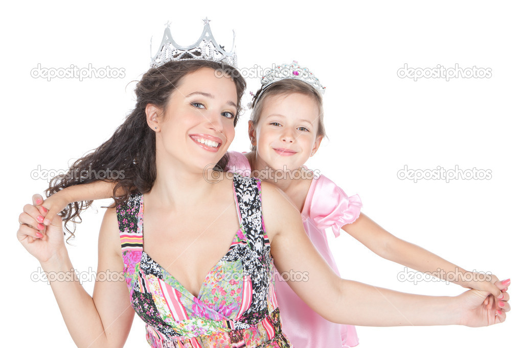 Teen and woman princess
