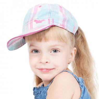 Funny little girl in a cap