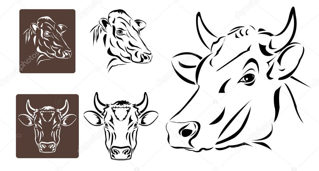 Imágenes Cabezas De Vacas Para Colorear Arte Lineal De Cabeza De