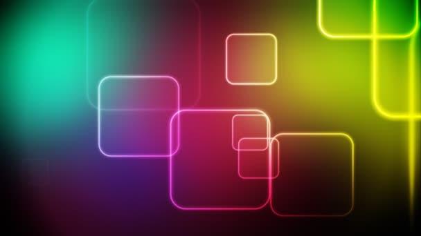 barevné čtverce smyčka