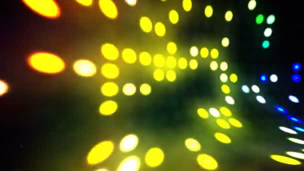 Disco světla scény smyčka