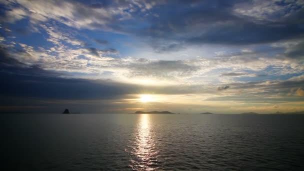 Sunset over sea loop
