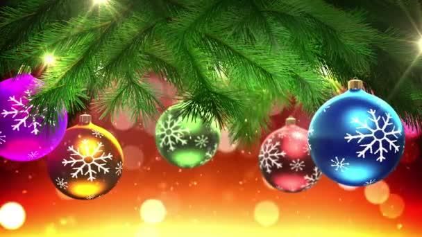 Vánoční strom a výzdobu smyčky