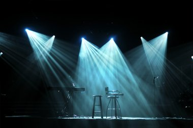 Stage With Bright Lights