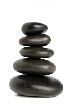 Five Black Stones Balanced