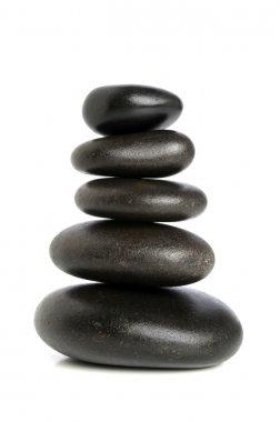 Five Black Stones Balanced