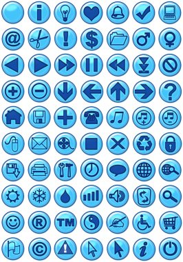 Web Icons in blue