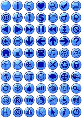 Web Icons in dark blue