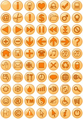 Web Icons in orange