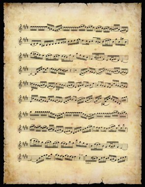 Vintage Music Sheet (With Clipping Path) stock vector