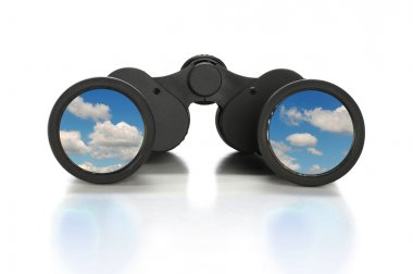 Binoculars With Image of Clouds