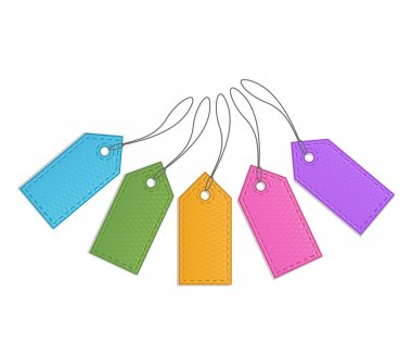 Collection of retro sale tags