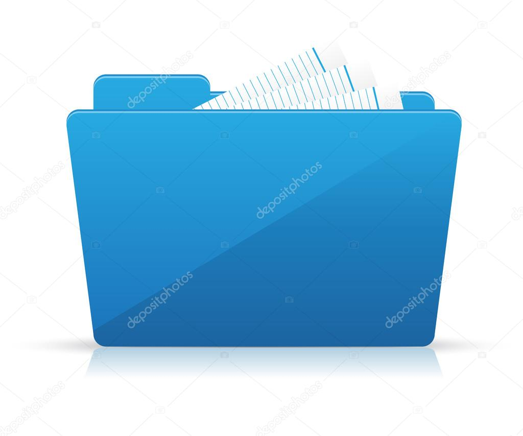 Blue file folder icon