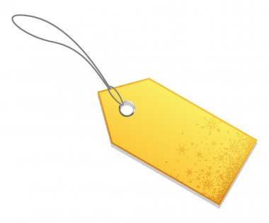 Golden christmas sale tag