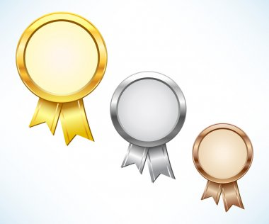 Gold, silver and bronze award