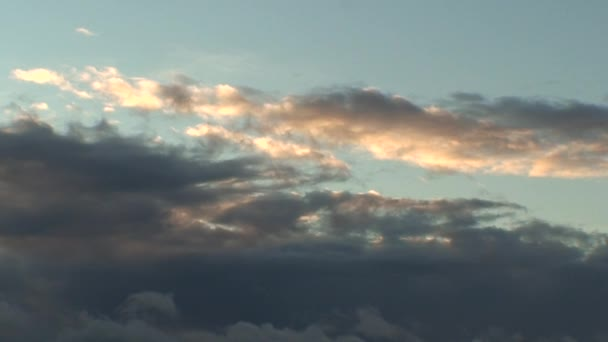 Background from clouds at sunrise, view