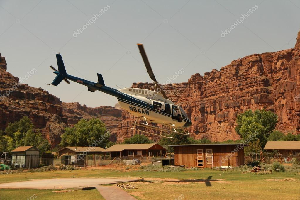 Helicopter ride in Havasupai Tribe - Grand Canyon
