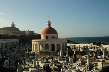 Santa Maria Magdalena de Pazzis colonial era cemetery located in Old San Juan Puerto Rico. stock vector