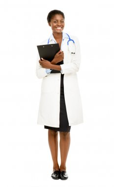 African American female doctor full length