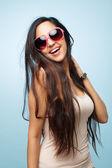 Fotografie attraktive indische Frau Mode-Modell posiert sexy