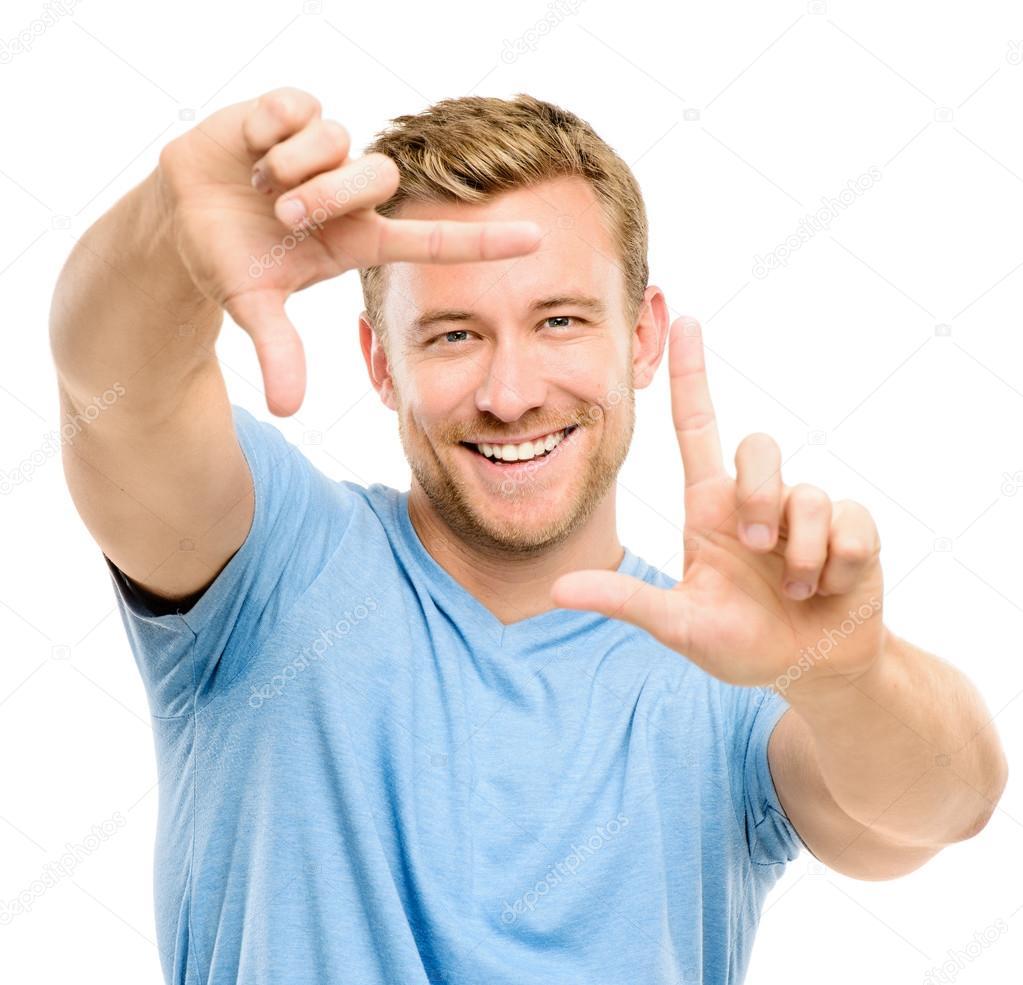 fotografía de encuadre de hombre feliz — Foto de stock © AILA_IMAGES ...